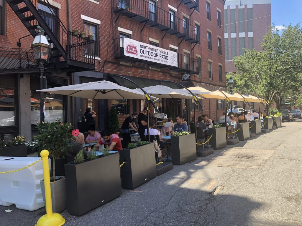 Outdoor Dining at North Street Grille - Boston MA